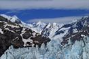 Glacial peaks against mountain peaks in Alaska.