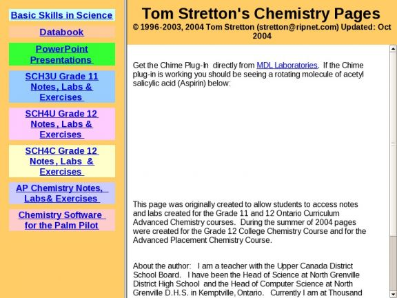 Applied Math and Science Education Repository - SCH3U Grade 11 Chemistry