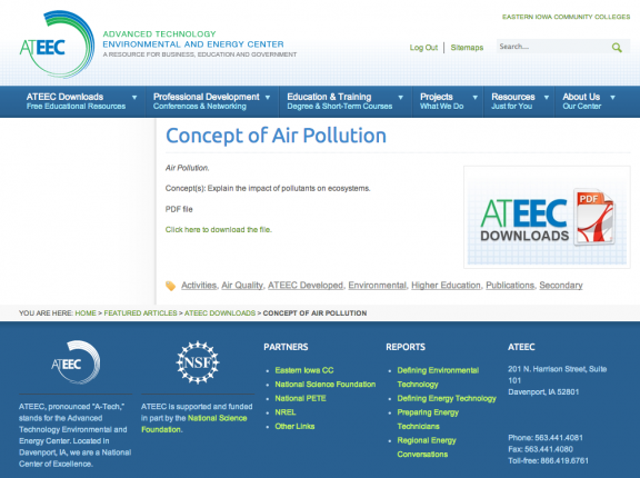 Concept of Air Pollution icon