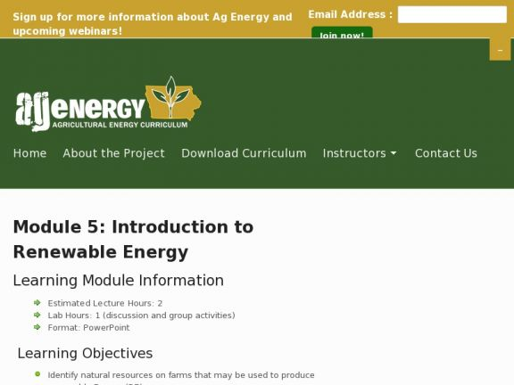 Module 5: Introduction to Renewable Energy icon