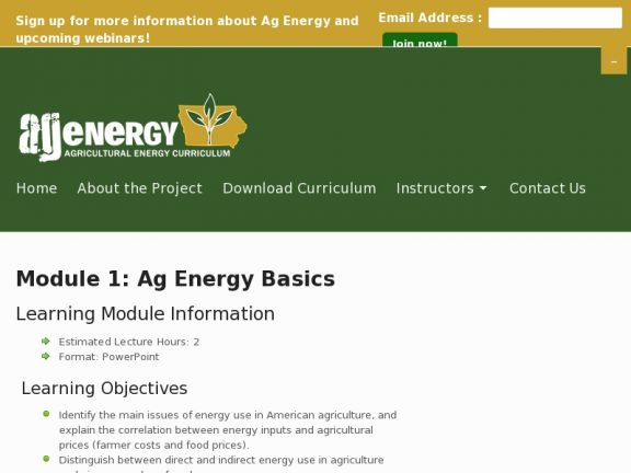 Module 1: Ag Energy Basics icon