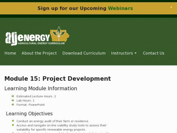Module 15: Project Development icon
