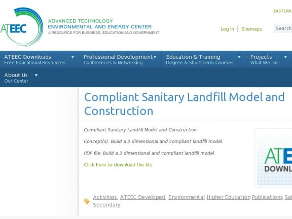 """Compliant Sanitary Landfill Model and Construction"" icon"