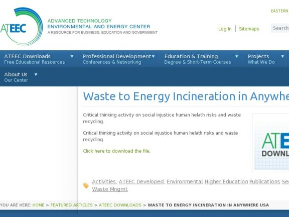 Waste to Energy Incineration in Anywhere USA icon