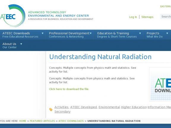 Understanding Natural Radiation icon