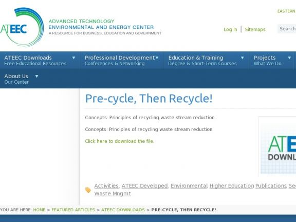 """Pre-cycle, Then Recycle!"" icon"