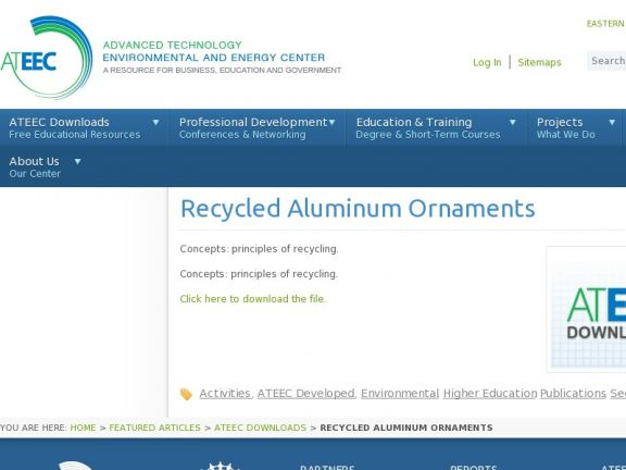 Recycled Aluminum Ornaments icon