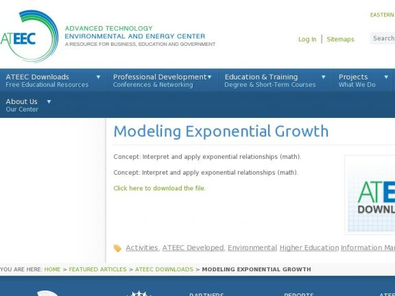 Modeling Exponential Growth icon