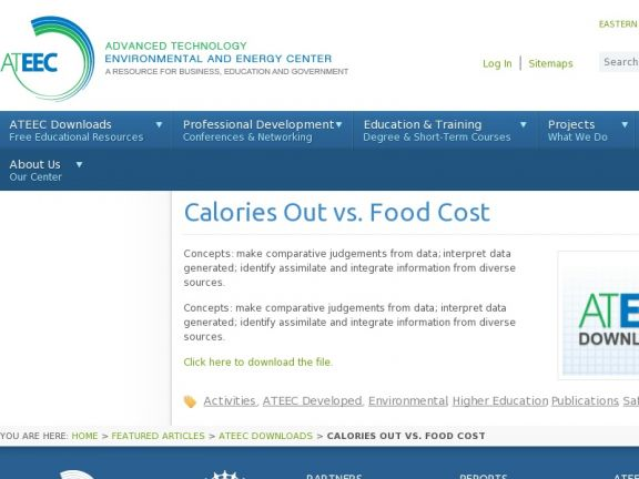 Calories Out vs. Food Cost icon