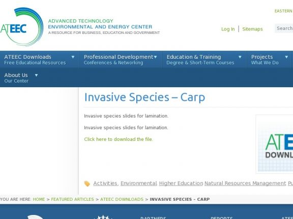 Invasive Species Fact Sheets: Carp, Snail, Aphid, Comb Jelly, Chocolate Vine icon
