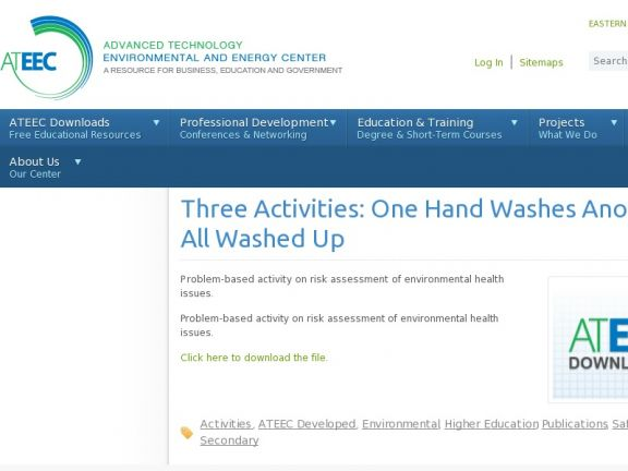 Three Activities: One Hand Washes Another, I'm All Washed Up and Who is All Washed Up? icon